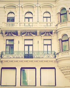 Prague Windows  Cream & Green  Fine Art Travel by happeemonkee, $34.00
