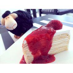 Crepe Cake Strawberry! Yummy!!!! I love it!