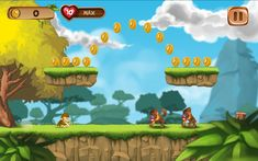 Banana Kong today's latest invention. Run, jump, bounce and swing on vines as you help Banana Kong to pass up a huge banana avalanche! Take full control. http://banana-kong.net/