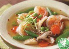 Азіатський суп з креветками та грибами