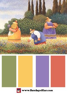 Spring Color Palette: Spring Gathering by Lowell Herrero
