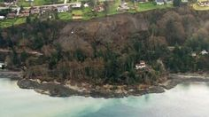 03/27/2013 - One home damaged, two dozen threatened or isolated by huge landslides overnight on Whidbey Island, WA - photos taken from SkyKING.  See link to more photos.  Beachfront?  No thank you.