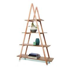 A Frame Bookshelf - Natural   Kmart