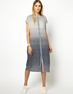Won Hundred Octa Shirt Dress in India Ink Print