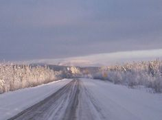 Driving into the Mackenzie Mountains NWT