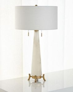 Alabaster Table Lamp  19 x 30 tall
