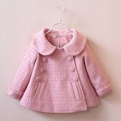 Girls Double Breasted Pea Coat Star