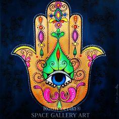 Şoliüüğğşçbt Hamsa Hand Tattoo, Hamsa Art, Hamsa Design, Turkish Art, Hand Of Fatima, Jewish Art, Arte Popular, Hindu Art, Dot Painting