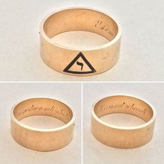"""Virtue and Death"" Freemason Ring, c. 1940, $700."