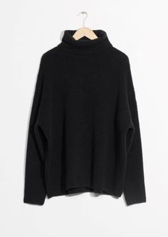 & Other Stories | High Neck Sweater Minimalist Fashion, Minimalist Style, High Neck Jumper, Dress Outfits, Fashion Outfits, Cool Outfits, My Christmas List, Winter Packing, Black Sweaters