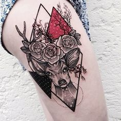 You've seen butterfly tattoos and bird tattoos, but this list of gorgeous animal tattoos goes so much further than that. Check out these adorable, tiny tattoos that pay homage to your spirit animal. Cool Tattoos, Body Art Tattoos, Tattoos, Cute Tattoos, Leg Tattoos, Hip Tattoo, Beautiful Tattoos, Geometric Tattoo, Deer Tattoo