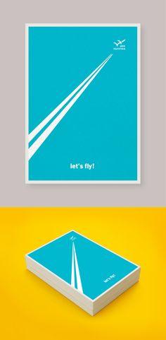 Postcards // Two sticks restaurant by Ira Sm, via Behance