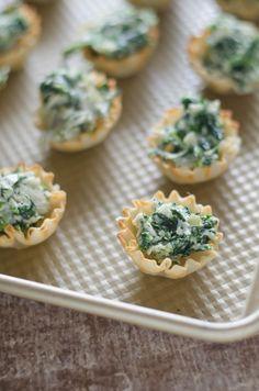 Spinach Artichoke Phyllo Cups   Go Go Go Gourmet @gogogogourmet