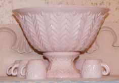 Pink Milk Glass Punch Bowl