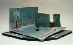 """Ralph Koltai's simple maquette for a 1979 London production of """"Richard III"""" resembles abstract metal sculpture. Photo: Courtesy Tobin Collection Of Theatre Arts"""
