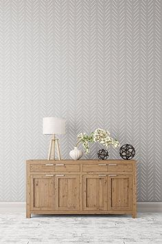 Herringbone simple  Large decorative Scandinavian by StenCilit