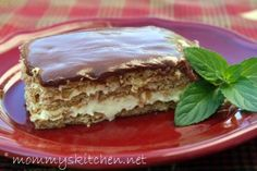 Mommy's Kitchen - Old Fashioned & Country Style Cooking: Easy No Bake Chocolate E'clair Cake
