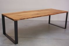 Example with oak- Beispiel mit Eiche Example with oak - Coffee Table 2019, Solid Wood Coffee Table, Wood Table, Dining Room Bench, Dining Table In Kitchen, Market Table, Modern Apartment Decor, Interior Design Living Room, Furniture