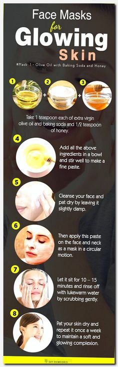 DIY face masks for glowing skin This face mask is suitable for all skin types. Ö … – DIY face masks for glowing skin This face mask is suitable for all skin types. Olive – DIY face masks for glowing skin This face mask is suitable for all skin types. Homemade Face Masks, Homemade Skin Care, Diy Skin Care, Homemade Facials, Facemasks Homemade, Baking Soda And Honey, Baking Soda Face, Tips Belleza, Beauty Recipe