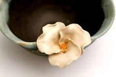 Handmade Wild Rose Flower Pottery