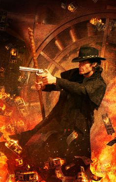 "Chris McGrath cover art for ""Skin Game,"" Book #15 in Jim Butcher's Dresden Files series. Model, John Paul Pfeiffer."