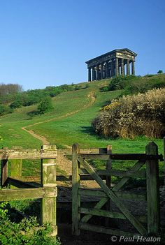 Penshaw Monument, is a folly built in 1844 on Penshaw Hill between the districts of Washington and Houghton-le-Spring, within the City of Sunderland, North East England. It is dedicated to John George Lambton, first Earl of Durham. The Places Youll Go, Places To See, Penshaw Monument, North East England, Northern England, What A Wonderful World, Great Britain, Sunderland England, Sunderland Afc