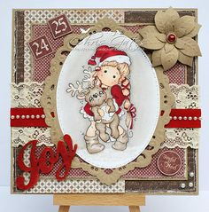 OOAK MAGNOLIA TILDA CHRISTMAS CARD by CHRIS x | eBay