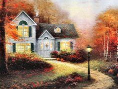 Blessings of Autumn by Thomas Kinkade
