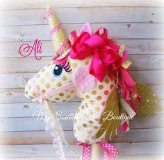 Hobby Horse Unicorn Alicorn by MySouthernChic on Etsy