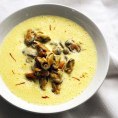 Moules de bouchot à la crème de safran