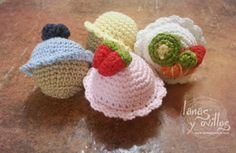 Tutorial Mini Cupcakes Amigurumi Crochet