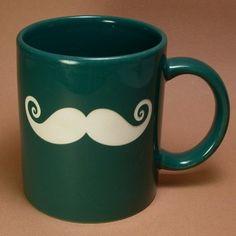 Pine Green Mustache Mug