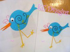 Googly Eyed Birds 02 Embroidery