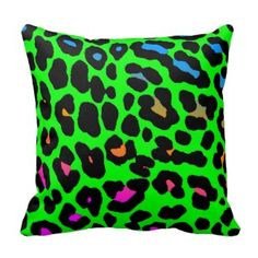 Totally Awesome 80s Cushion Designs - neon leopard print