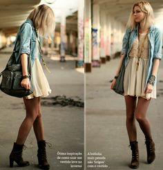 Gaveta Virtual: Vestido + camisa jeans