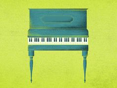 Drawing Piano, Typewriter Keys, Folk Music, Cool Designs, Ivory, Graphic Design, Lovely Things, Perspective, Blue Green