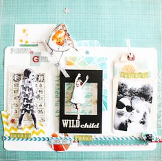 Funny Girl #scrapbook page for The Crafty Power Blog, by @Stephanie Schütze with @BasicGrey papers