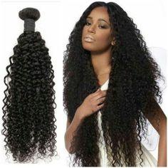 Brazilian Virgin Hair Clip In Human Hair Extensions,7Pcs/set Kinky Curly Clip In Hair Extensions,Color 1B