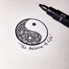 Ying Yang Tattoos of Them) Lotusblume Tattoo, Tatoo Art, Tattoo Mond, Tattoo Style, Piercing Tattoo, Yin Yang Tattoos, Neue Tattoos, Body Art Tattoos, Trendy Tattoos