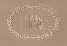 Such a lovely and cute idea for the holidays or any occasion you're sending thanks for! THANK YOU CARDS - Set of 6 Hand Stitched Cards