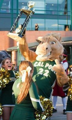 Cal Poly Mustangs mascot, Musty the Mustang.