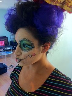#halloweenhair https://watermanshair.com #scaryhair #happyhalloween #party #Halloweenhairstyles
