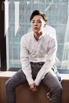G-Dragon for W Korea (June 2015), This man is so hot! I just have a hard time believing he's you know! Gawd! it makes me so jealous! Well, if he ever changes teams, hit me up! Very cute! D:)