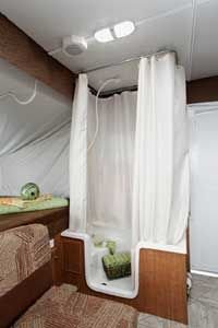 Pop Up Camper Indoor Shower Pop Up Camper Bathroom Pinterest