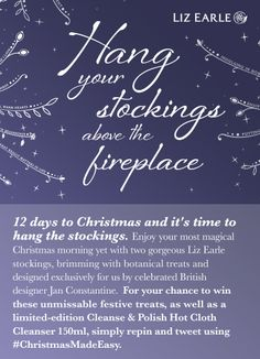 I'm in to #win two stockings filled with botanical goodies with Liz Earle's #ChristmasMadeEasy. 12th Dec only.