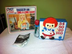 Vintage Concept 2000 Raggedy Ann Sing A Long Radio in Box with Instructions