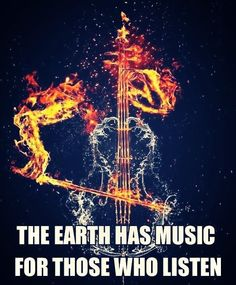 """""""The Earth has music, for those who listen."""" Are you listening? #fire #ice"""