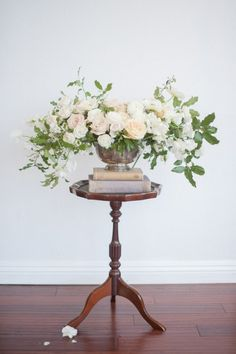 Gorgeous and overflowing: http://www.stylemepretty.com/california-weddings/santa-clara-california/2015/06/05/romantic-blush-cream-wedding-inpiration/ | Photography: Rahel Menig - http://www.rahelmenigphotography.com/