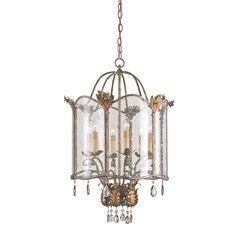 Zara Large Crystal Pendant Currey & Company Lantern Pendant Lighting Ceiling Lighting
