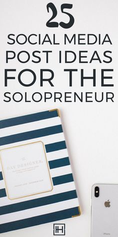 Get a month of post ideas for Instagram and Facebook / social media post ideas for solopreneurs and creative entrepreneurs